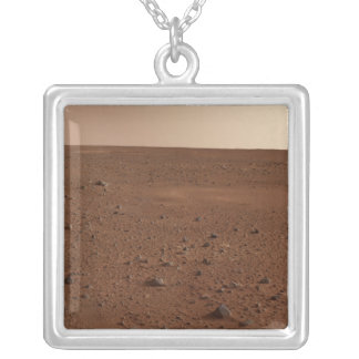 The rocky surface of Mars Silver Plated Necklace