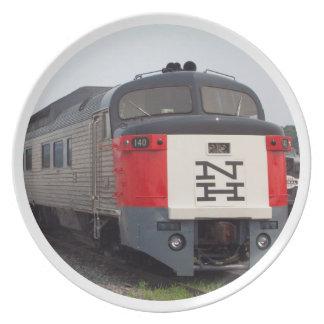 The Roger Williams Train Set Melamine Plate