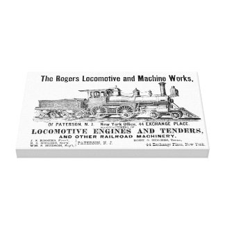 The Rogers Locomotive Works, Paterson,N.J Canvas Print