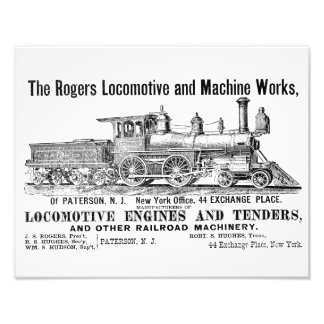 The Rogers Locomotive Works, Paterson,N.J Kodak Photo Print