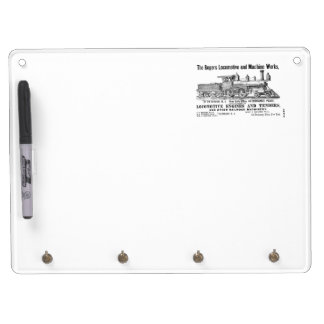 The Rogers Locomotive Works - Paterson, NJ 1870 Dry Erase Board With Keychain Holder