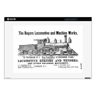 "The Rogers Locomotive Works Zazzle Skin 15"" Laptop Skins"