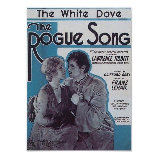 The Rogue Song Vintage Songbook Cover Posters