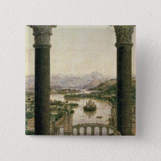 The Rolin Madonna , c.1435 Pinback Button