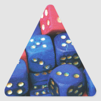 The roll of a dice triangle sticker
