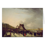 The rollercoasters on the Neva in St. Greeting Card