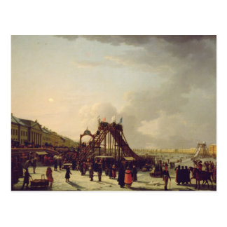 The rollercoasters on the Neva in St. Postcard