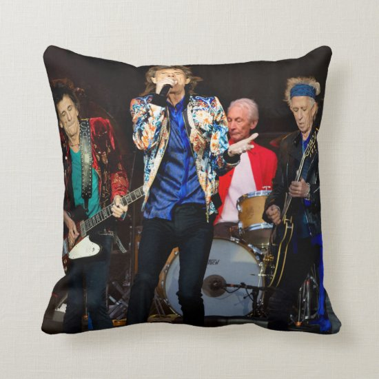 The Rolling Stones   Manchester, England Throw Pillow