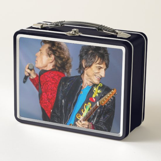 The Rolling Stones | Ron Wood & Mick Jagger Metal Lunch Box