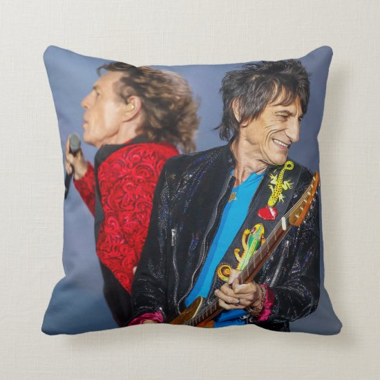 The Rolling Stones   Ron Wood & Mick Jagger Throw Pillow
