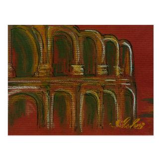 the Roman Ampitheatre in Arles Postcard