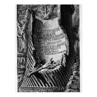The Roman antiquities, t. 1, Plate XLVI. Plan of.. Postcard