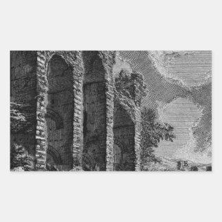 The Roman antiquities, t. 1, Plate XVII. Aqua ... Rectangular Sticker