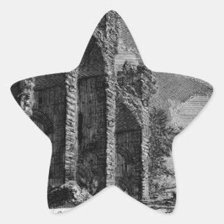 The Roman antiquities, t. 1, Plate XVII. Aqua ... Star Sticker