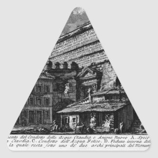 The Roman antiquities, t. 1, Plate XVII. Aqua... Triangle Sticker
