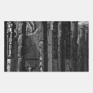 The Roman antiquities, t. 1, Plate XXII. Temple... Rectangular Sticker