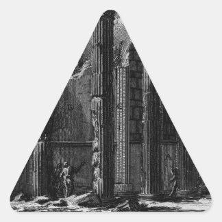 The Roman antiquities, t. 1, Plate XXII. Temple... Triangle Sticker