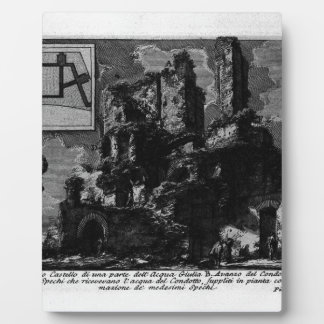 The Roman antiquities, t. 1, Plate XXVI. Aqua Plaque