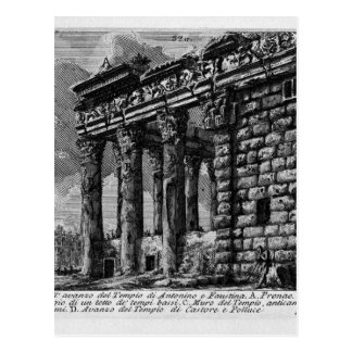 The Roman antiquities, t. 1, Plate XXXI. Temple Postcard