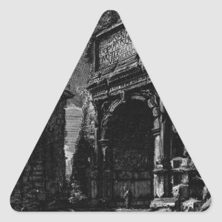 The Roman antiquities, t. 1, Plate XXXIV. Veduta Triangle Sticker