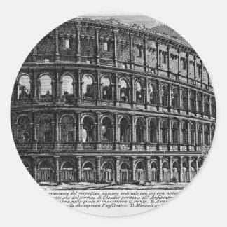 The Roman antiquities, t. 1, Plate XXXVII Classic Round Sticker