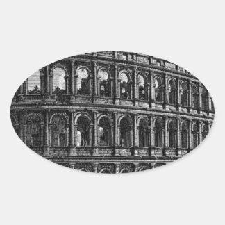 The Roman antiquities, t. 1, Plate XXXVII Oval Sticker