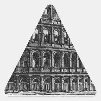 The Roman antiquities, t. 1, Plate XXXVII Triangle Sticker