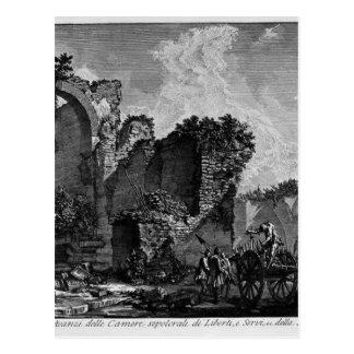 The Roman antiquities, t. 3, Plate XXII Postcard