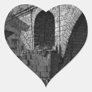The Roman antiquities, t. 4, Plate XVI Heart Sticker