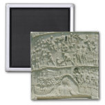 The Roman army crossing the Danube Fridge Magnet