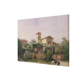 The Roman Baths, 1848 Canvas Print