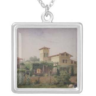 The Roman Baths, 1848 Silver Plated Necklace