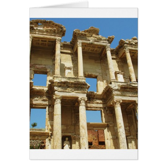 The Roman Celsus Library, Ephesus, Turkey Card