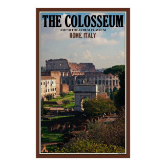 The Roman Colosseum Poster