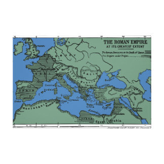 The Roman Empire At Its Greatest Extent Canvas Print