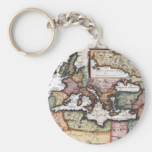 The Roman Empire Basic Round Button Keychain