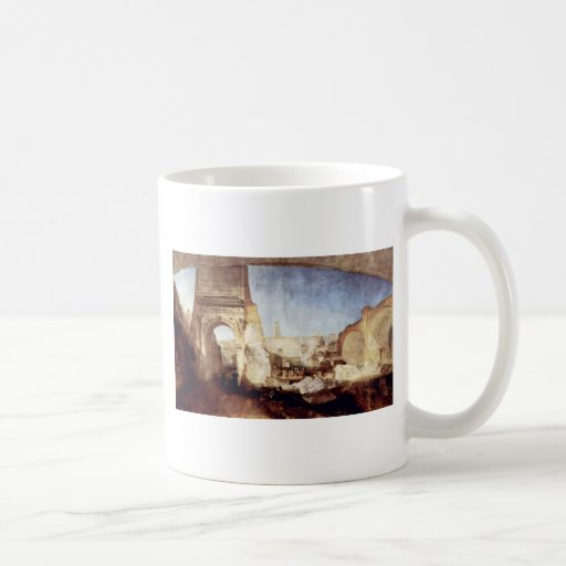 The Roman Forum For Mr. Soane'S Museum By Turner Classic White Coffee Mug