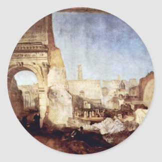 The Roman Forum For Mr. Soane'S Museum By Turner Classic Round Sticker