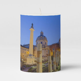 The Roman Forum in Rome Pillar Candle