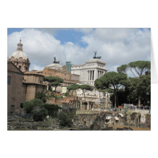 The Roman Forum - Latin: Forum Romanum Card