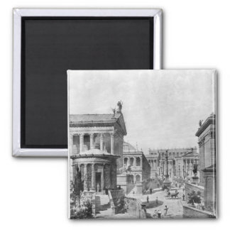 The Roman Forum of Antiquity, 1914 2 Inch Square Magnet