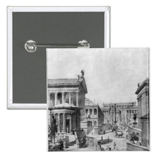 The Roman Forum of Antiquity, 1914 2 Inch Square Button