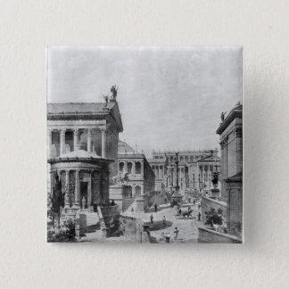 The Roman Forum of Antiquity, 1914 Pinback Button