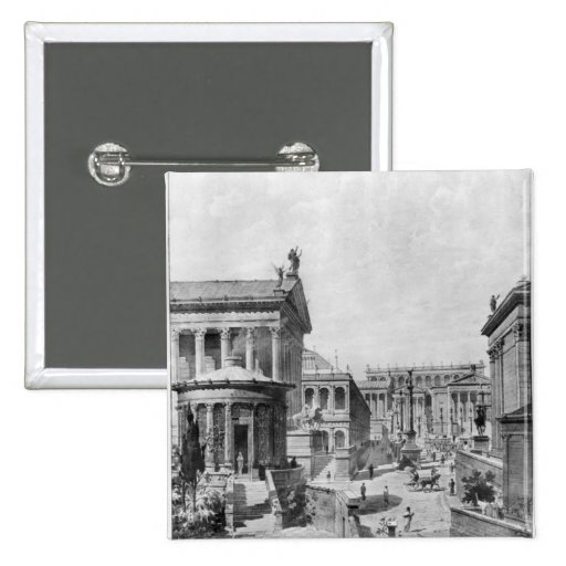 The Roman Forum of Antiquity, 1914 Pinback Button