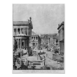 The Roman Forum of Antiquity, 1914 Poster