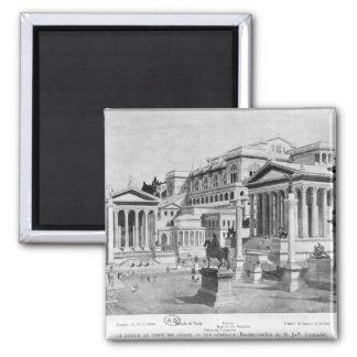 The Roman Forum of Antiquity 2 Inch Square Magnet