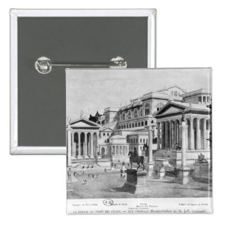 The Roman Forum of Antiquity 2 Inch Square Button