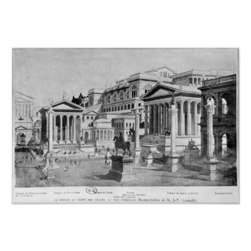 The Roman Forum of Antiquity Poster
