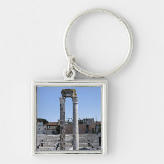 The Roman theater in Arles, France Silver-Colored Square Keychain