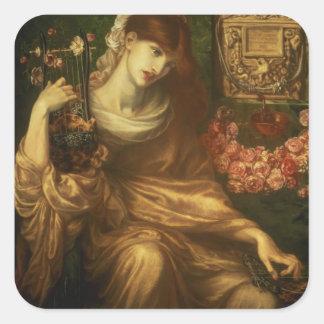 The Roman Widow, 1874 (oil on canvas) Square Sticker